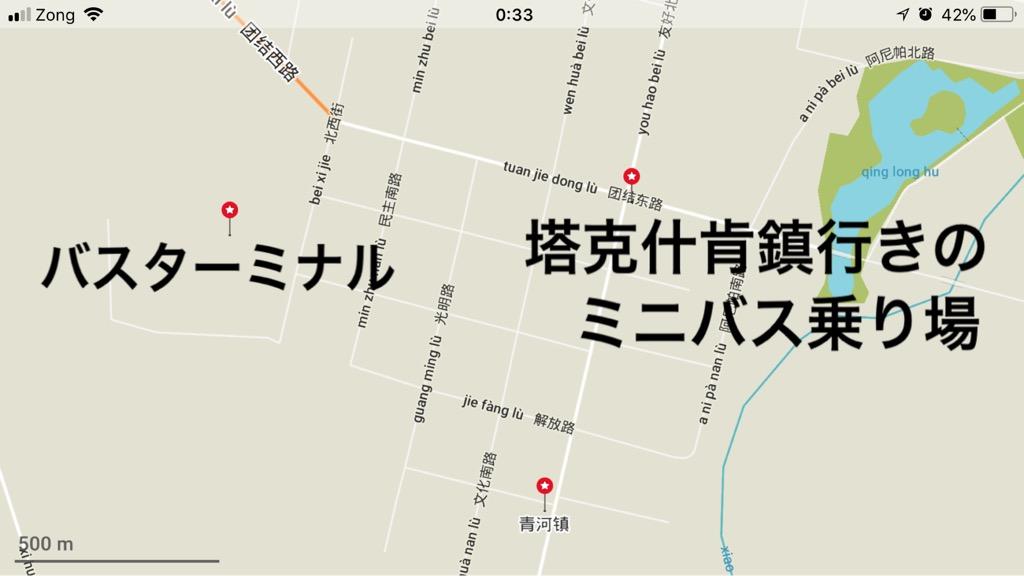 青河の地図