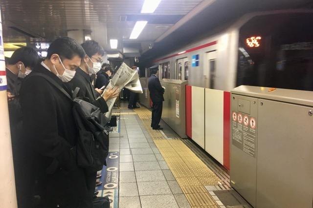 東京メトロ、通勤風景