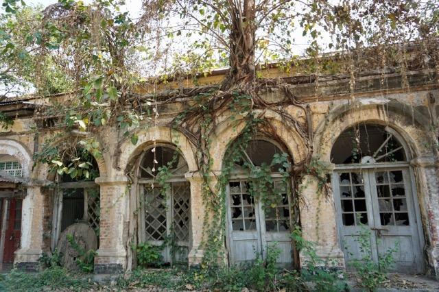 遺跡と化した建物