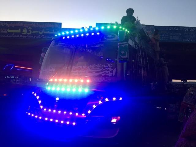 ムルタンからカラチ行きのバス