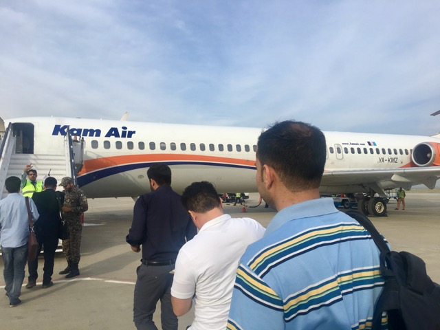 アフガニスタン行きの飛行機KAM AIR