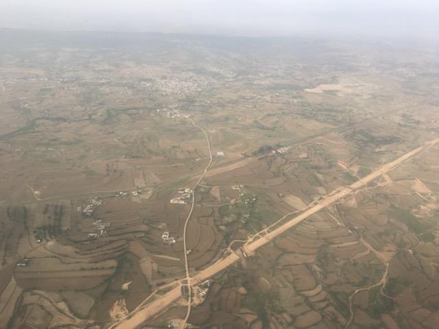 イスラマバード~カブール間のフライトからの景色